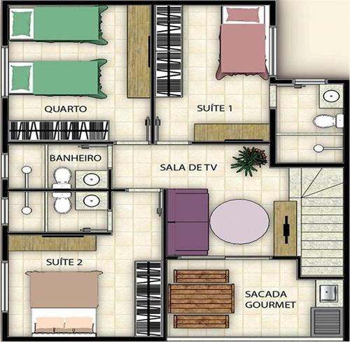 sobreposta duplex 2 - 3 dorm sendo 2 suítes - parque bitarú - bs imóveis