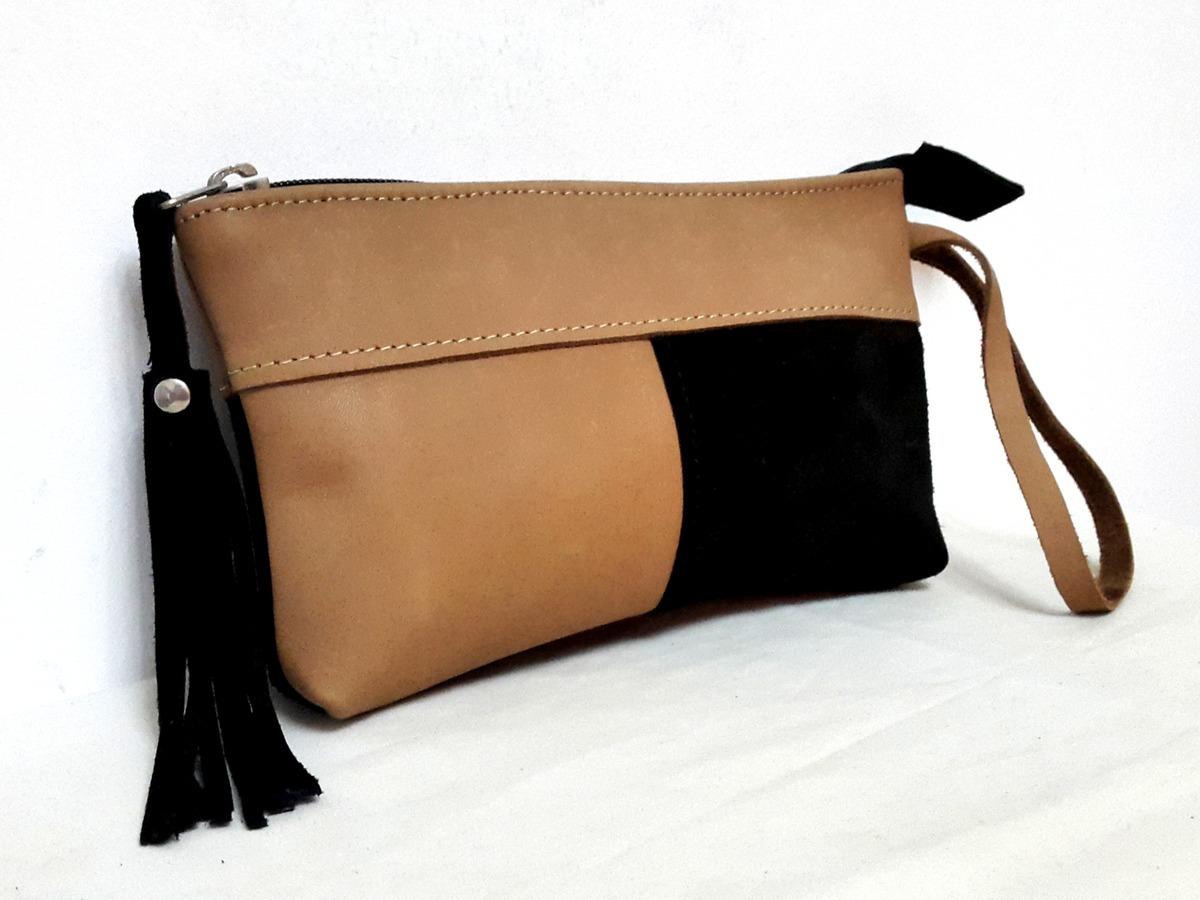 be9541af0 Sobres 100% Cuero:marrón Y Negro.la Carmelina - $ 450,00 en Mercado ...