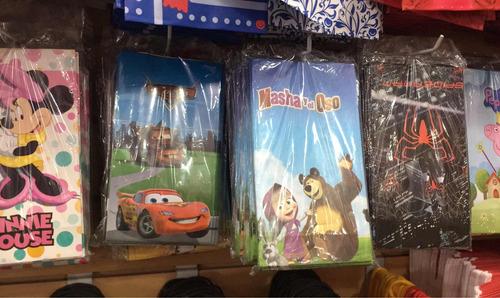 sobres bolsas de cartón infantiles para cumpleaños souvenirs