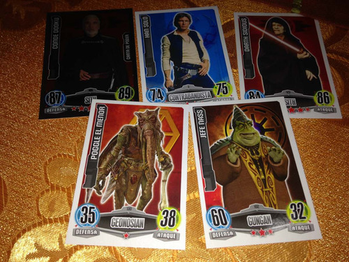 sobres cartas coleccionables star wars force attax