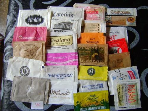 sobres de azucar de coleccion lote3 de 50 sobres vacios