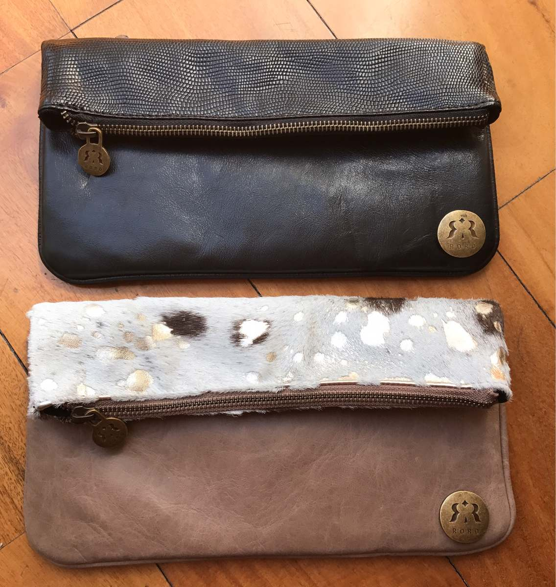 1570d4e63 Sobres De Cuero Argentino Marca Roro Bags Nuevos! - $ 1.250,00 en ...