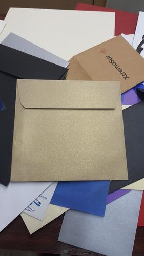 sobres de papel kraft para invitaciones de matrimonio