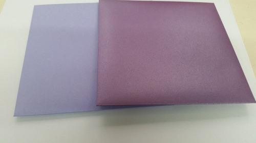sobres de papel nacarados brillosos 15x15 invitaciones