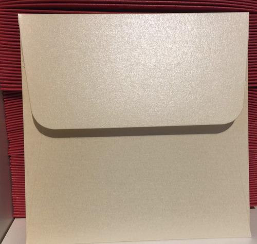 sobres especiales 12,5x12,5  120 grpapeles perlados u opacos