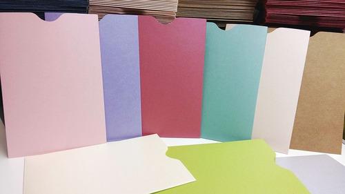 sobres especiales estuche 11x16 cm varios colores