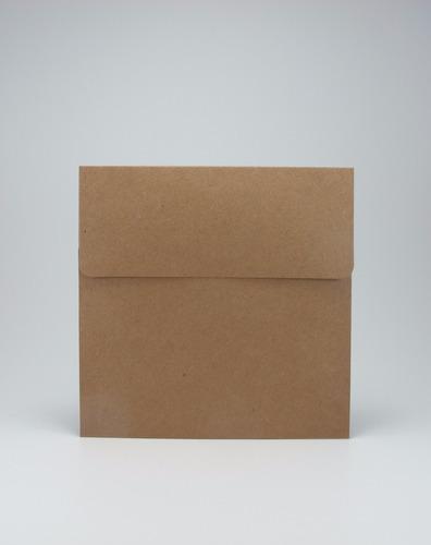 sobres especiales papel madera kraft 270 gr 15x15 cuadrado
