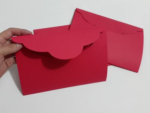 sobres invitación media carta - varios colores 25 pzas.