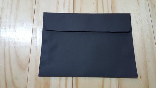 sobres negro de cartulina para invitaciones 200 grs.
