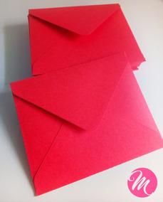 Sobres Para Invitaciones Tarjetas Boda 15 Años Color Rojo
