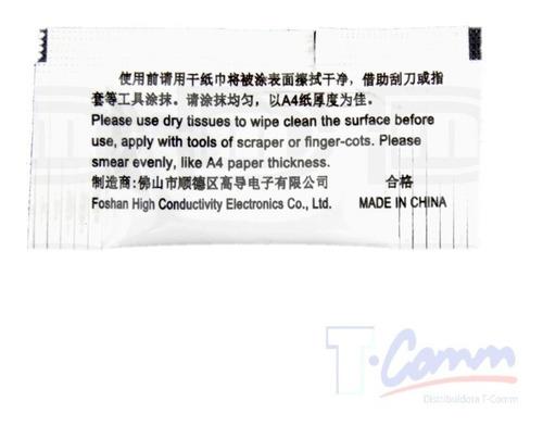 sobres pasta grasa térmica disipador calor gd900 0,5grs