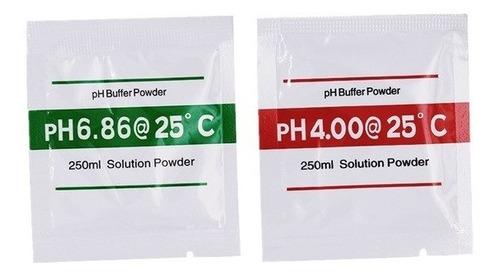 sobres preparación para buffer calibración ph en polvo