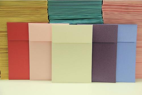 sobres rosa perlado 11x16 cm 120 gr cm solapa recta (x500)