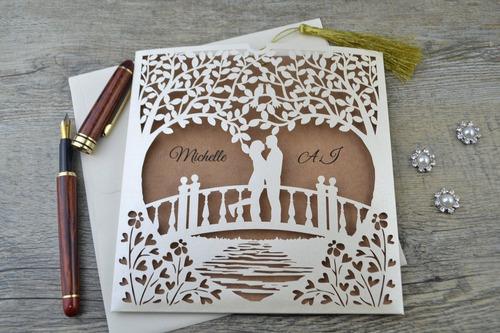 sobres troquelados invitaciones de boda,15 años, eventos