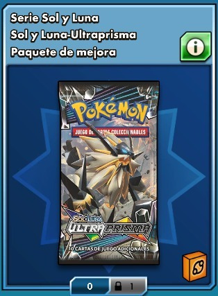 sobres virtuales - boosters - pokemon tcg online