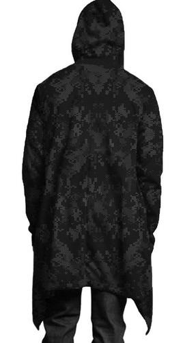 sobretudo alongado gotico bruxo baphomet dark trevas
