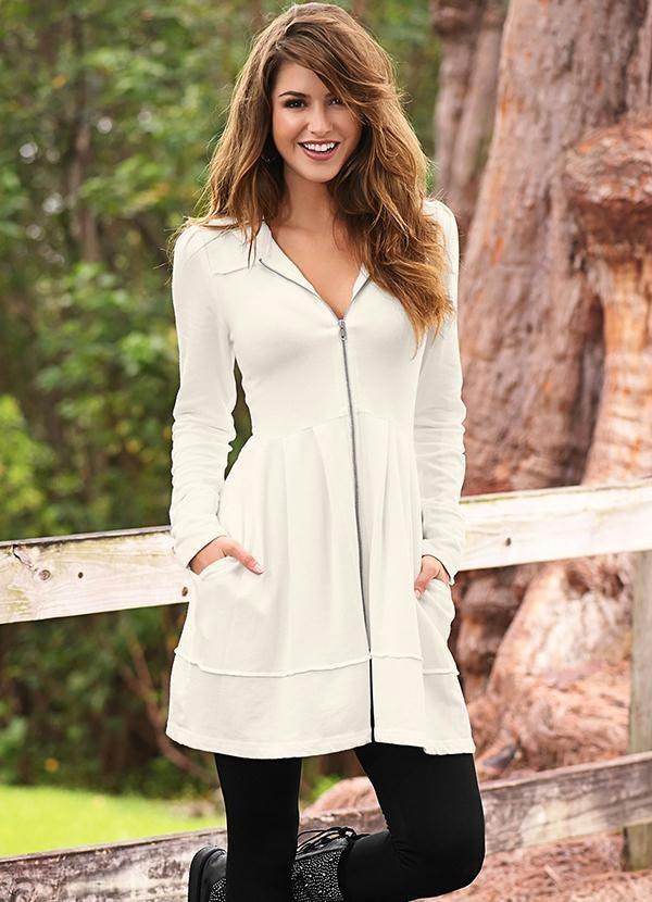 9090af315 sobretudo casaco longo feminino inverno branco chic lindo. Carregando zoom.