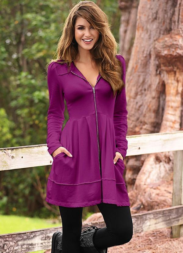 559b06373 sobretudo casaco longo feminino inverno roxo chic lindo. Carregando zoom.