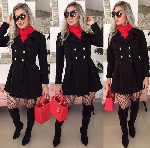sobretudo feminino casaco