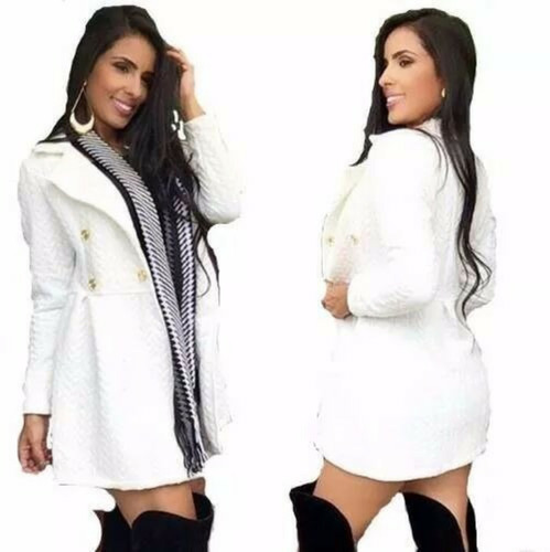 sobretudo feminino festa casaco inverno social branco preto