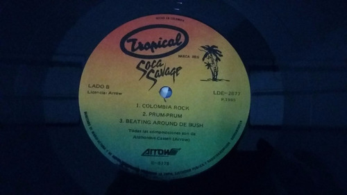soca salvaje arrow colombia lp vinilo africano reggae