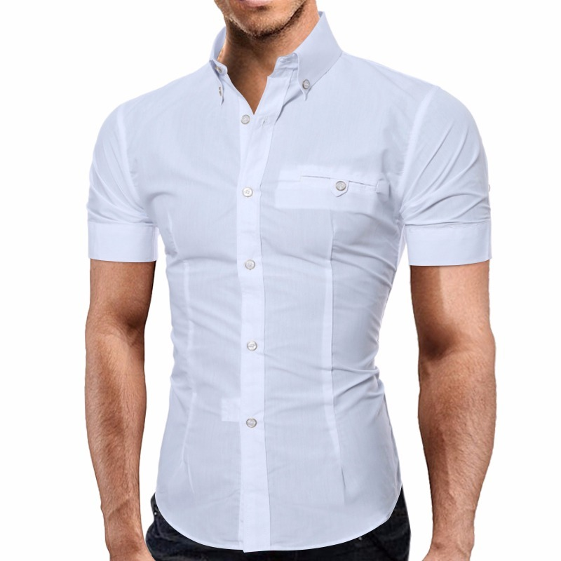 d7a0173d06 Carregando zoom... camisa social masculina slim fit camiseta polo manga  curta