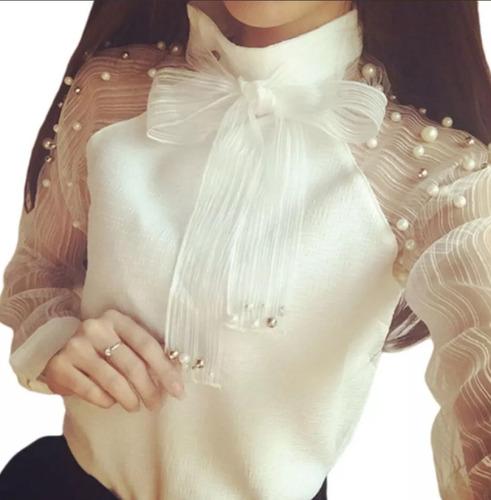 social manga longa camisa feminino