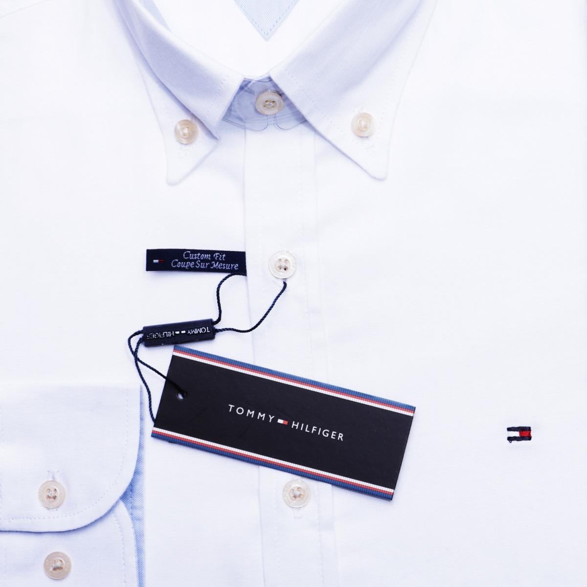 7454135f71 Camisa Social Tommy Hilfiger Masc Custom Fit Branca Original - R ...