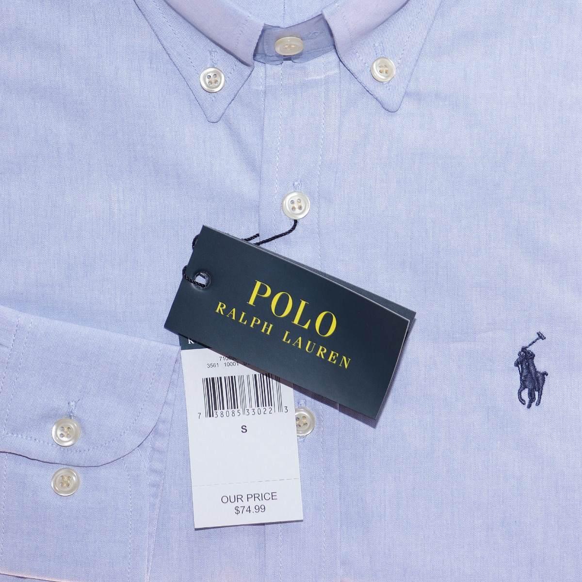 70664aef75644 Camisa Social Ralph Lauren C Fit Azul Claro Masc Original - R  159 ...