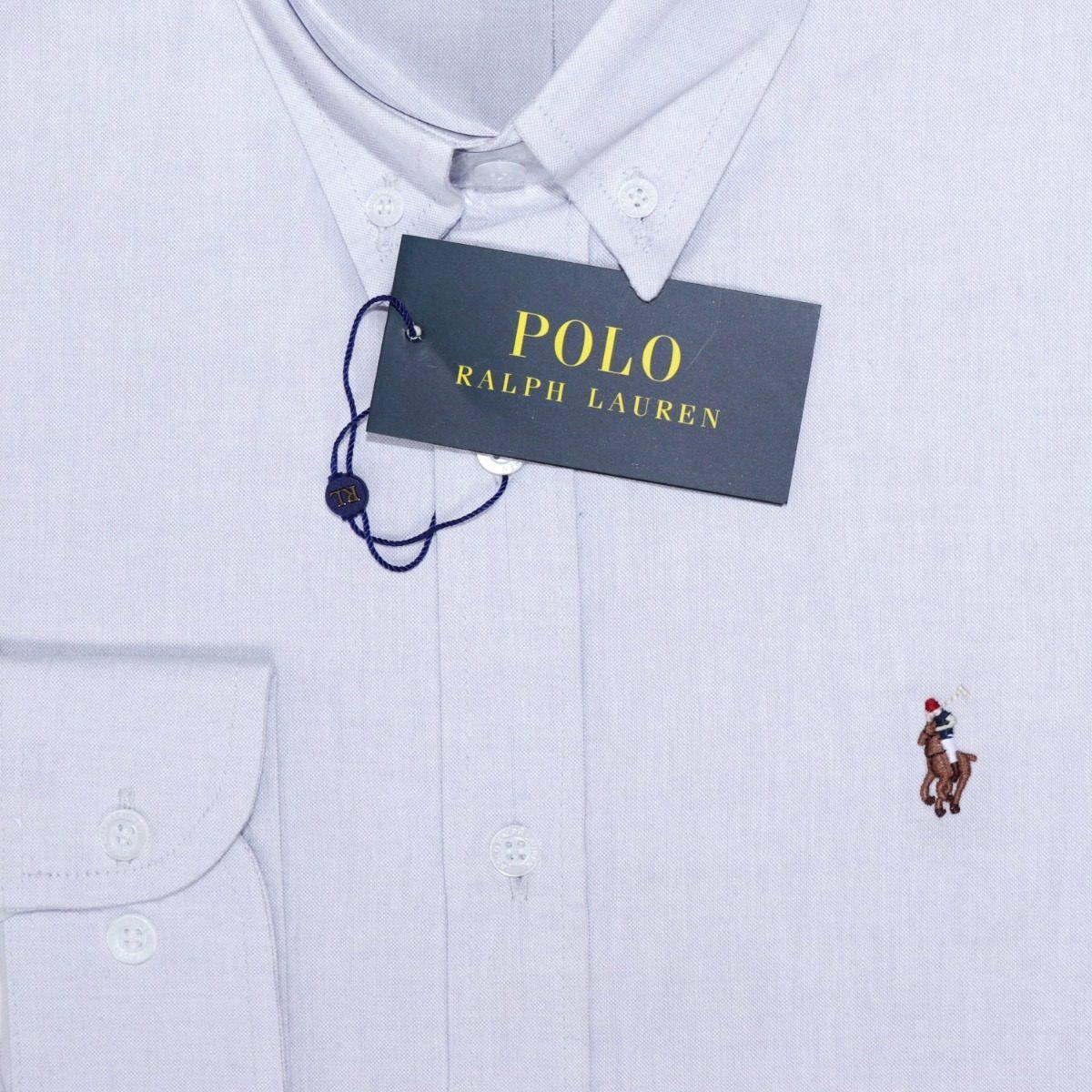 Carregando zoom... camisa social ralph lauren oxford masculino cinza  original 17211171d2c