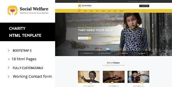 social welfare charity e non profit html template r 25 00 em