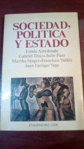 sociedad, política y estado. libro.