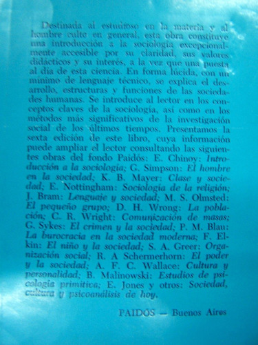 sociologia la ciencia de la sociedad * jay rumney y j. maier