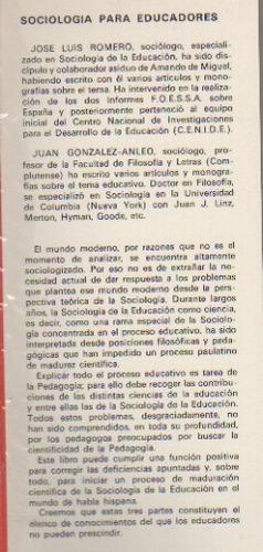 sociología para educadores, por josé l. romero peñas