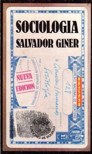 sociología - salvador giner
