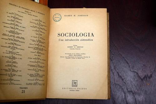 sociologia una introduccion sistematica harry johnson