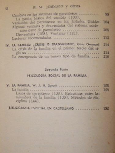 sociología y psicología social de la familia / johnson, 1967