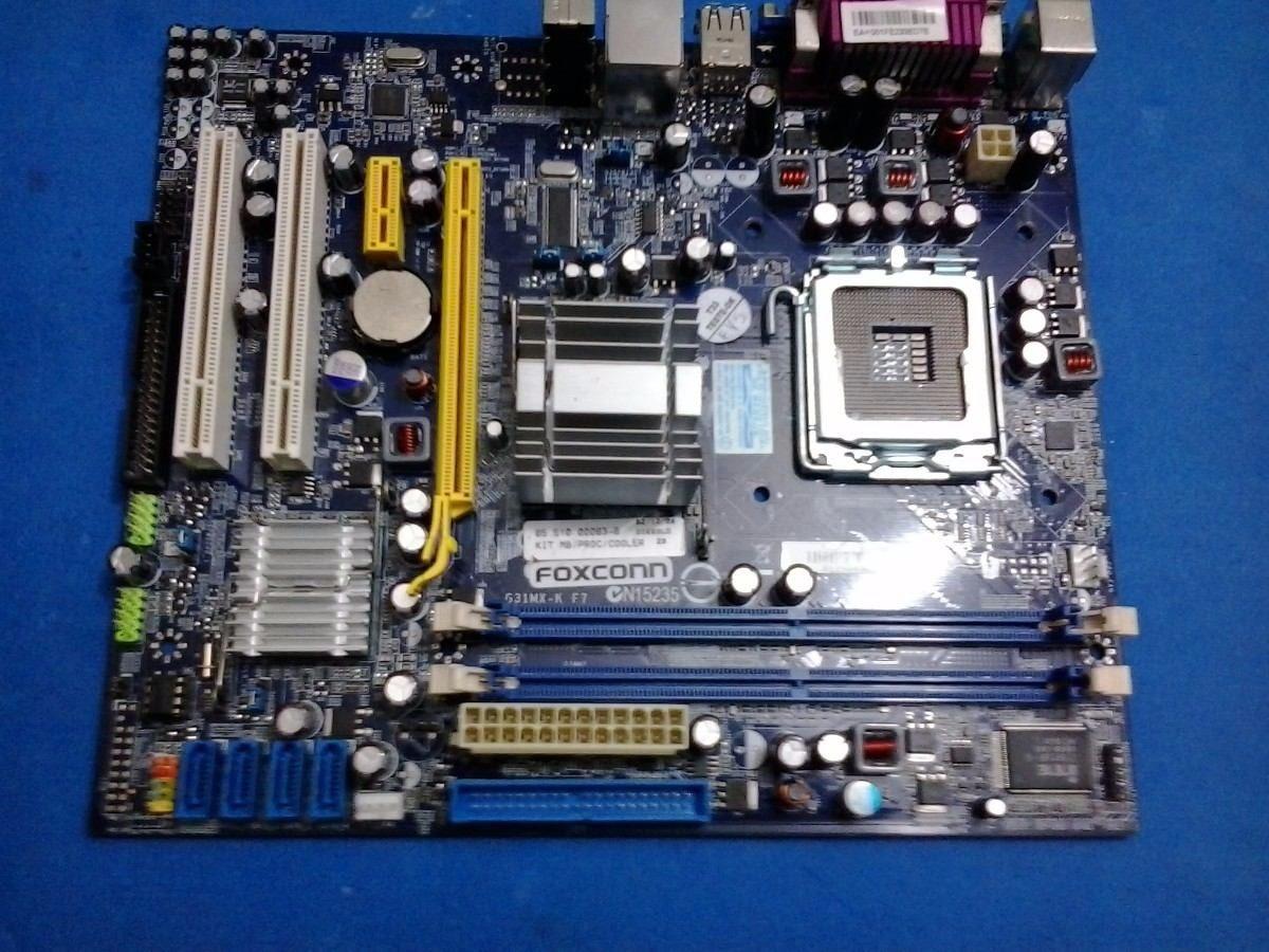 Placa M U00e3e Foxconn N15235 Socket 775 C  Processador 2 8ghz