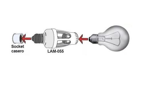 socket con sensor de movimiento alcance 6m 360° portalampara