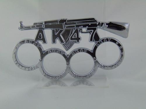 soco inglês em aço, prateado - homenagem ak-47