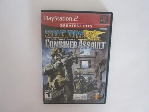 socom us navy seals combined assault ps2 play station 2