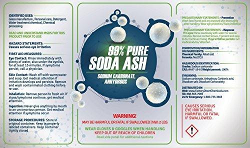 Soda Ash 99 Pura Carbonato De Sodio Anhidro Soda De
