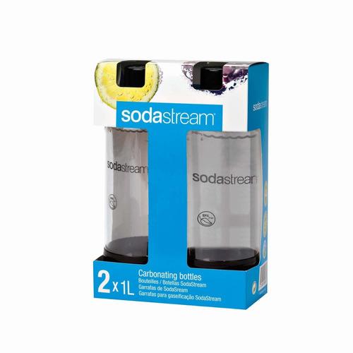 sodastream carbonatación botellas - 1l negra (twin pack)
