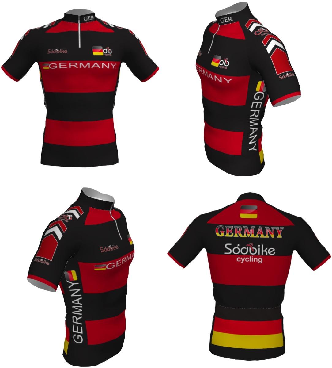 367de9a844 Camisa De Ciclismo Sódbike Alemanha Infantil - Bike - R  55