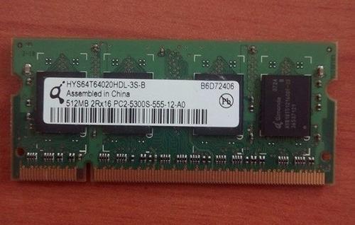 sodimm memoria laptop 512mb pc2 555