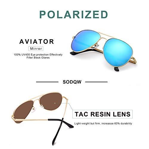 Gafas Sol C Polarizadas Aviador Espejo Mujer Sodqw De Marca MqVpzjLSUG