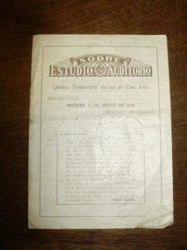 sodre estudio auditorio programa 11 mayo 1948 cine arte