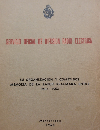 sodre organizacion memoria de labor  1930 - 1962  raro 1963