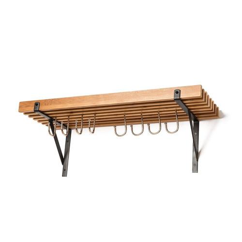 soduku cocina pared montado bamboo pot pan estante con 8 gan