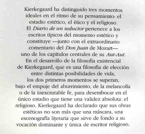 soeren kierkegaard, diario de un seductor, ed. nuevo siglo